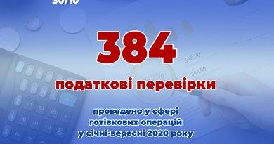 У сфері готівкових операцій запорізькі податківці провели 384 перевірки