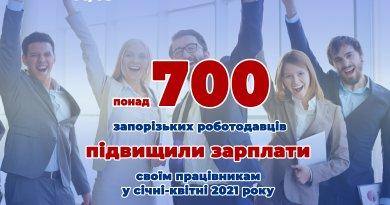 У Запорізькій області більше семисот роботодавців підвищили зарплати своїм працівникам